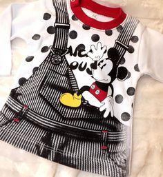 Mickey Mause  Baby Langarmshirt für Jungen Gr. 68 74 80