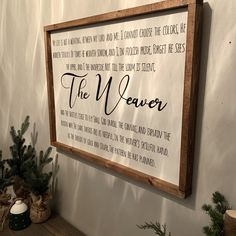 The Weaver Custom Wood Signs, Do Everything, Be Yourself Quotes, Gift Tags, Canning, Design, Home Canning, Conservation