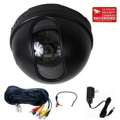 VideoSecu CCTV Dome Security Camera Built-in Sony CCD 480TVL 3.6mm Wide Angle Lens for Home DVR Surveillance System with Preamp Audio Microphone, Power Supply and Extension Cable 1VM >>> You can find out more details at the link of the image.
