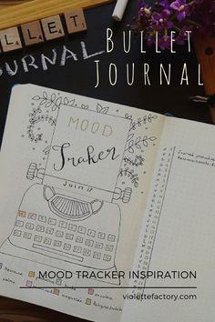 Mood Tracker & Bullet Journal -Suivi des émotions - Violette Factory