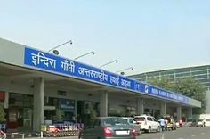 """Entrance view of the Old Airport in Delhi, photo by NDTV. """"Hoax bomb scare at Delhi airport; techie held"""""""