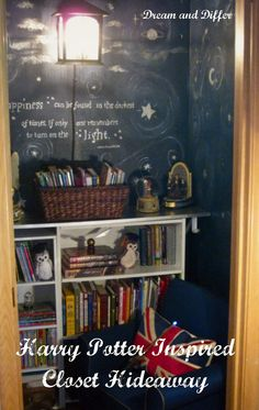 Dream and Differ: Closet Turned Harry Potter Hideaway - I want something like this!