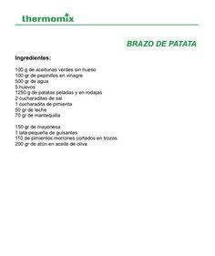 Brazo de patata ingredients