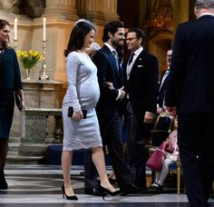 Sweden Royals attend 'Te Deum' service at the Royal Chapel