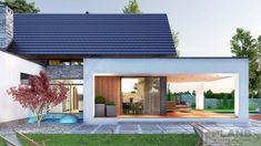 "Проект коттеджа ""Marivas"" | Plans | Проекти будинків Modern Bungalow House Design, Modern Family House, Minimal House Design, Modern Villa Design, Model House Plan, New House Plans, Big Houses Exterior, Cabin Style Homes, House Construction Plan"