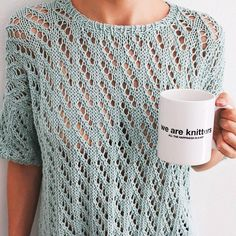 Pineberry Tee | We Are Knitters. This would be rad for the holidays in a silver-streaked indigo.