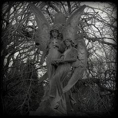 angels in the Dean Cemetery of Edinburgh, Scotland