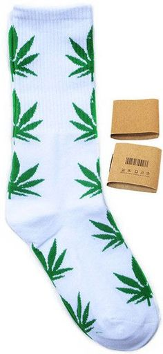 Hemp Socks Summer Style Bamboo Leaves Socks Medium Thick Candy Colored Weeds Socks for Men and Women 98