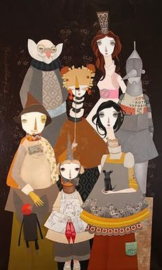 This is one of my favorite new artists!  Mellisa Peck. Her work is whimsical and amazing!