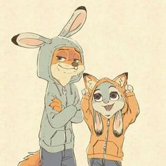 Cute and funny pics with characters of zootopia. I'm shipping Nick and Judy!