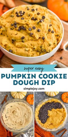 Pumpkin Cookie Dough Dip combines everything you love about cookie dough and pumpkins and puts it together in a delicious easy dip recipe. This pumpkin dip is a keeper! Cookie Dough Dip, Cookie Dough Recipes, Edible Cookie Dough, Cookie Icing, Easy Cake Recipes, Dip Recipes, Candy Recipes, Pumpkin Recipes, Fall Recipes