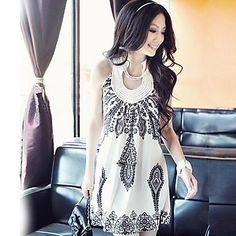 halter mini vestido floral impressão mangas das mulheres - BRL R$ 23,91