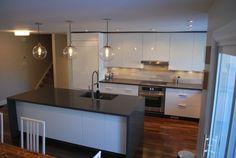 shiny white cabinets