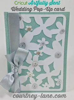 Close To My Heart Artfully Sent Cricut cartridge Wedding Pop Up card
