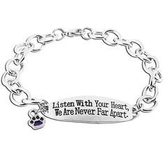 Never Far Apart Purple Paw Bracelet at The Animal Rescue Site