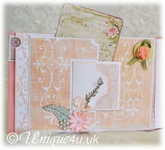 Unique4u Floral fantasy mini album page 1