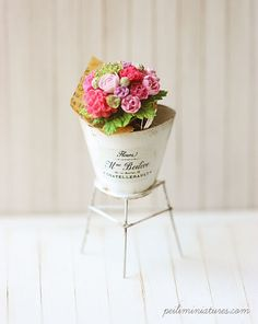 Dollhouse Miniature 1/12 Scale Summer Flower Bouquet