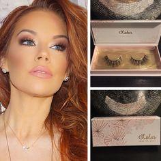 Stunning Jessa Hinton wearing Lotus Lashes 3D lash No. 114 #minklashes #makeup #glam