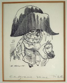 Two Caricature Drawings by David Levine