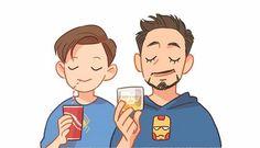Peter & Tony | The Avengers | Cr: Hallpen