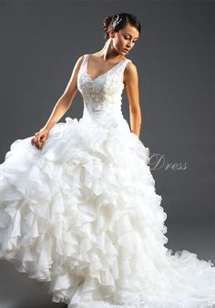 A-Line Floor Length Attached Organza/ Roma Satin Wedding Dress Style - Amazing looking!xxx