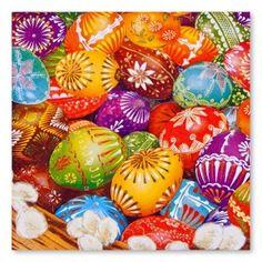 Serwetki na ludowo - wielkanocne jajka