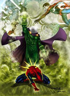 Mysterio vs Spidey - Alxelder by SpiderGuile.deviantart.com on @DeviantArt