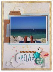 This beach layout was created using the Big Shot Plus Starter Kit from Sizzix. Available now at Scrapbook.com