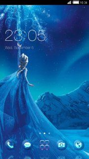 download free blue winter princess android theme mobile theme htc