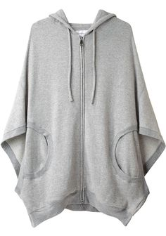 Grey Lounge Cape-let That I Would Wear With Almost Anything