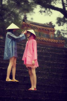 Cute FP picture-love the bright colored rain coats