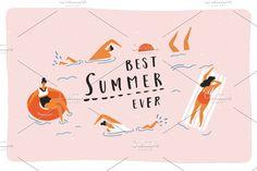 New! Best summer ever graphic set