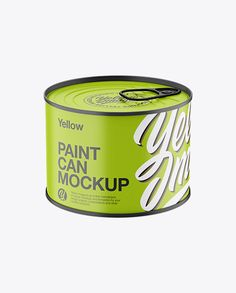 Matte Tin Can Mockup with Ring