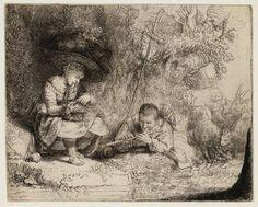Rembrandt, The Flute Player (l'Espiègle) (B 188), 1642,Teylers Museum