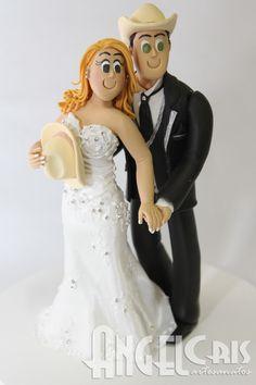 bonecos de biscuit para bolo de casamento com chapéu - Pesquisa Google
