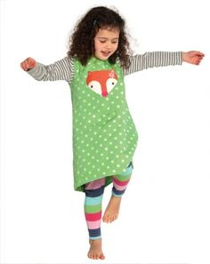 Fox Reversible Pinafore Dress - Organic Clothes By Frugi