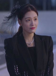 Veronica Park (Kim Jae-kyung)'s exquisite look in episode 10 of The Secret Life of My Secretary features this black fitted jacket from Alexander McQueen with eyelet details for added drama. Korean Tv Series, Korean Shows, Secret Life, The Secret, Korean Drama Movies, Korean Dramas, Yoon Seo, Respect People, Korean Actresses