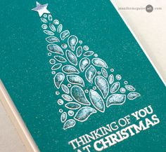 Heat embossing using dies. Impressions Video by Jennifer McGuire Ink