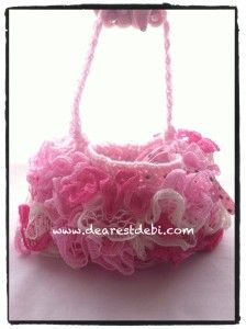 Crochet Ruffle Lined Purse - Free Pattern by DearestDebi