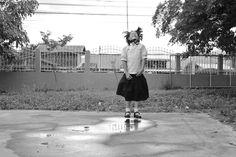 L'incroyable pouvoir de l'enfant! Cours de l'école, Thailande, Juillet 2014   #photography #blackandwhite