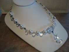 Necklace  Crystal Clear  Showoffjewels by showoffjewels on Etsy, £155.00