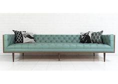 Mid-Century Sofa in Dreamer Aqua