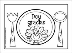 Free Thanksgiving Printable (English or Spanish) from Kinder Latino