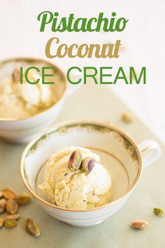 Pistachio Coconut Ice Cream
