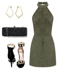 """Olive x Black x Gold"" by hautecoutureblvd on Polyvore featuring Dutch Basics, White House Black Market and Shoe Republic LA"