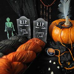 Halloween skein Set  Extra Gift  Hand Dyed Sock Yarn