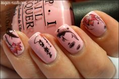 Chinese inspired nails .. that would be perfect for the current Chinese New Year