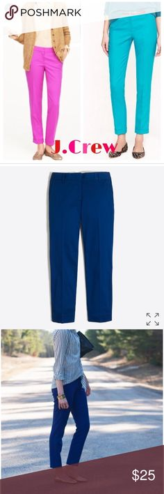 J. Crew skimmer pant NWT J.Crew skimmer paint city fit in navy size 2. Other colors in pictures just posted for fit. Color is navy blue J. Crew Pants Ankle & Cropped
