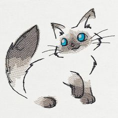Fluffy Kitty | Urban Threads: Unique and Awesome Embroidery Designs