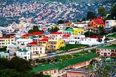 The colourful buildings in Cape Town, South Africa Bo-kaap quarter.